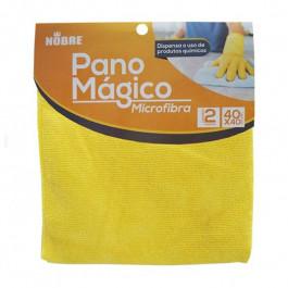 PANO MAGICO MICROFIBRA AMARELO NOBRE 40X40CM- 2 PANOS