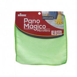PANO MÁGICO MICROFIBRA VERDE COM 2 20X20CM - NOBRE